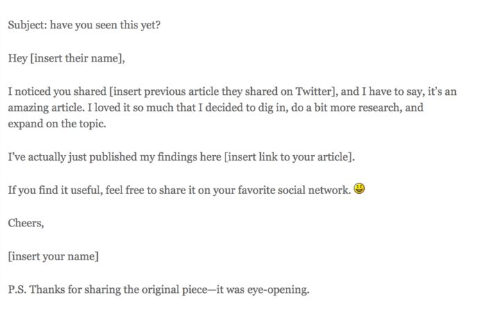 Social Media Promotion via email outreaching: Sample Email For Key-Influencers