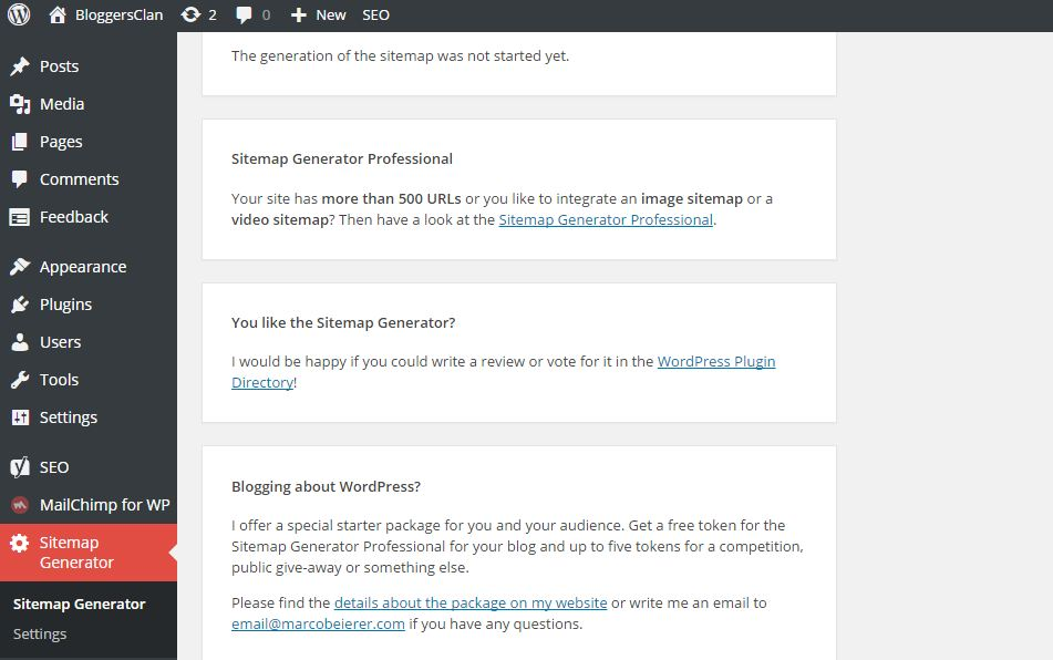 How to generate sitemap for your blog