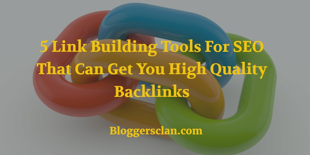 Link Building Tools For SEO