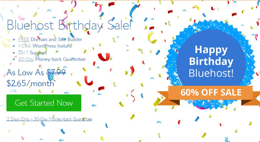 Bluehost WordPress Hosting Sale